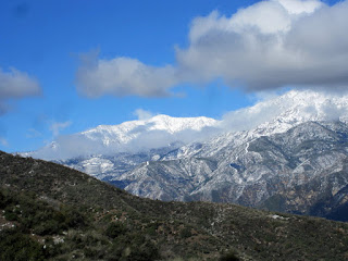View northwest toward Mount Islip from Glendora Mountain Road, Angeles National Forest, February 20, 2011