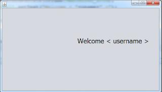 java login form - login success