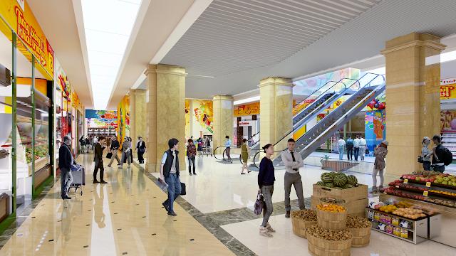 Siêu thị mua sắm lớn với đầy đủ mặt hàng