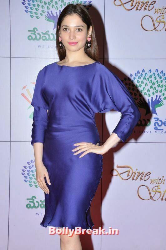 Tamanna images, Tamanna Bhatia Hot Pics in Blue Dress