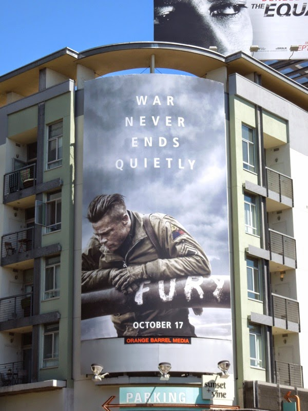 Fury movie billboard