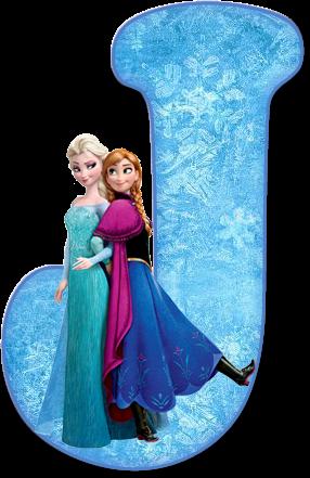 Alfabeto de Ana, Elsa y Olaf de Frozen. - Oh my Alfabetos!