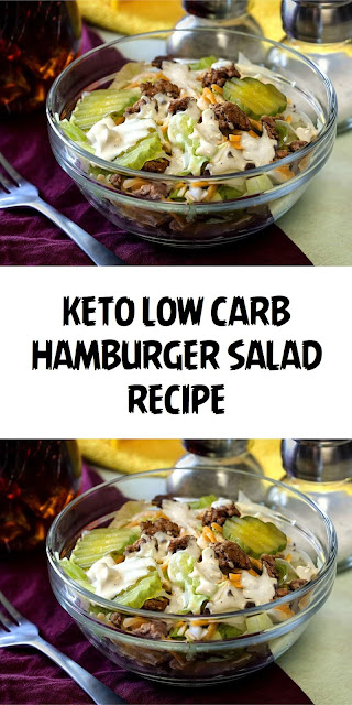KETO BIG MAC SALAD | LOW CARB HAMBURGER SALAD RECIPE