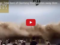 Video Detik-detik Mengerikan Saat Wisatawan Disapu Ombak Besar yang Datang Tiba-tiba