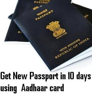 How to get new passport within 10 days through Online with Aadhar Card