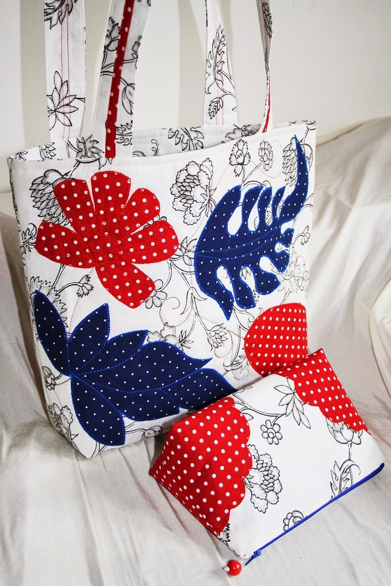 0f8d289b8259 Сумка с аппликацией, здесь Галина делится подробностями вшивания подкладки.