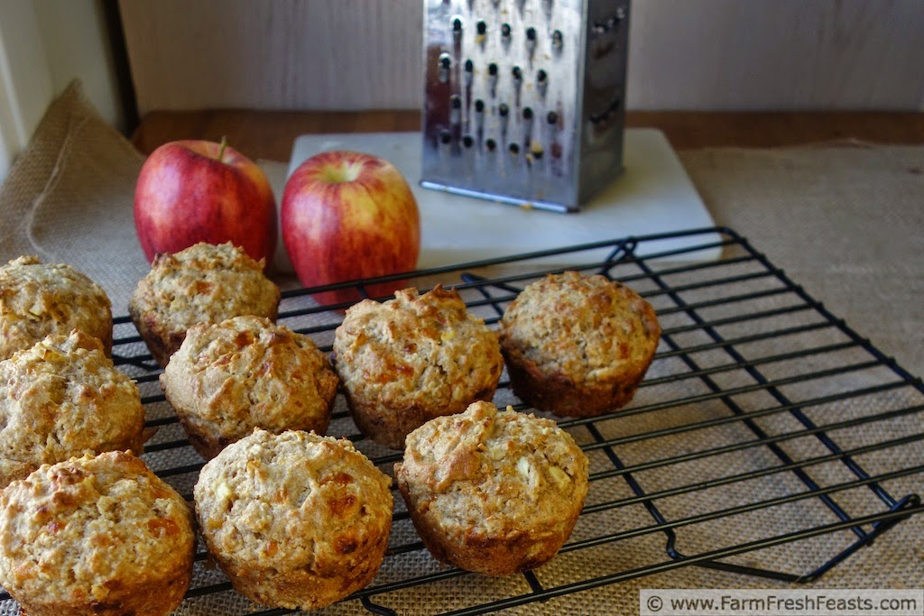 Cheddar Apple Soaked MultiGrain Muffins | Farm Fresh Feasts
