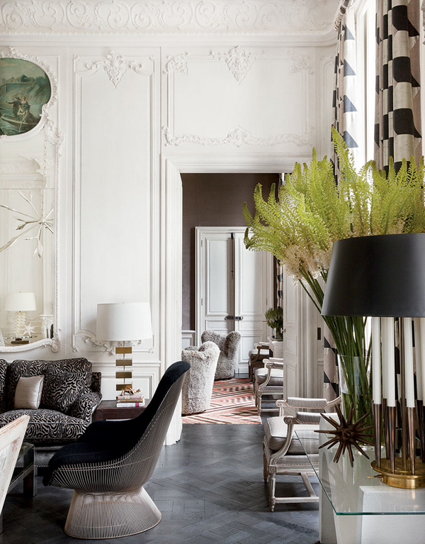 interiors lauren santo domingo 39 s paris apartment mimosa lane. Black Bedroom Furniture Sets. Home Design Ideas
