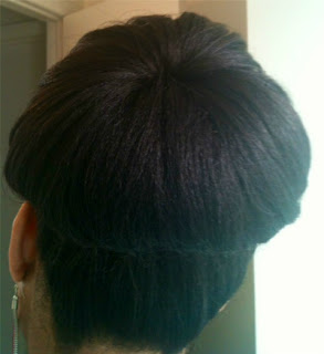 supersized bun hairstyles back view