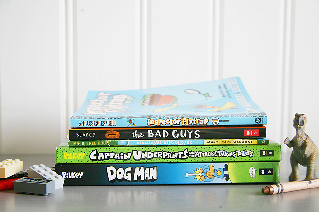 Book suggestions for elementary school aged boys