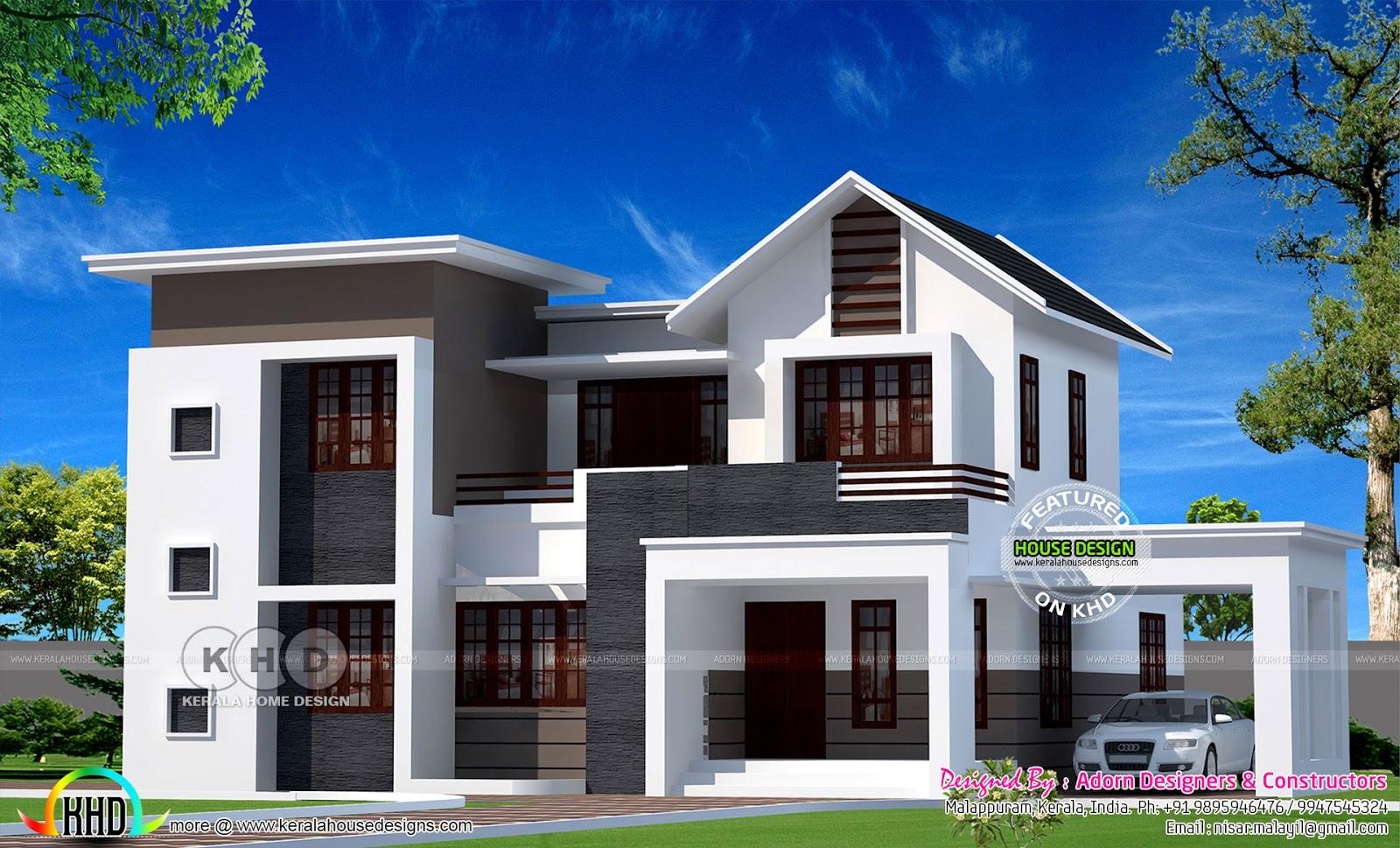 3D vs Real home design - Kerala home design and floor ...