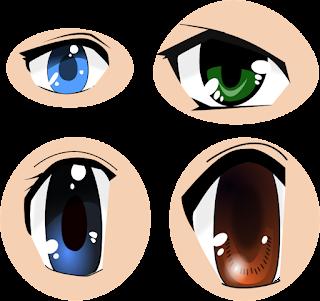 Free Anime eyes SVG