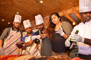 Actress Namitha Pictures at Bobbys Bistro Christmas Cake Mixing Ceremony 0040