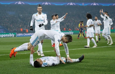 Champions League holders Real Madrid beat PSG in last 16