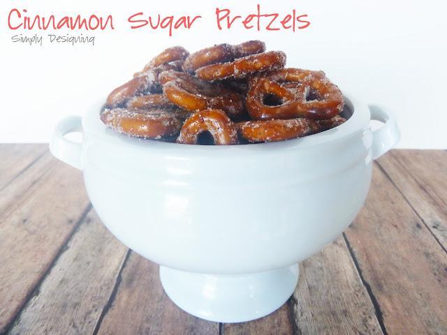 Cinnamon Sugar Pretzels #recipe #tastytreats #snack