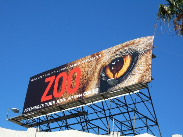 Zoo series premiere CBS billboard