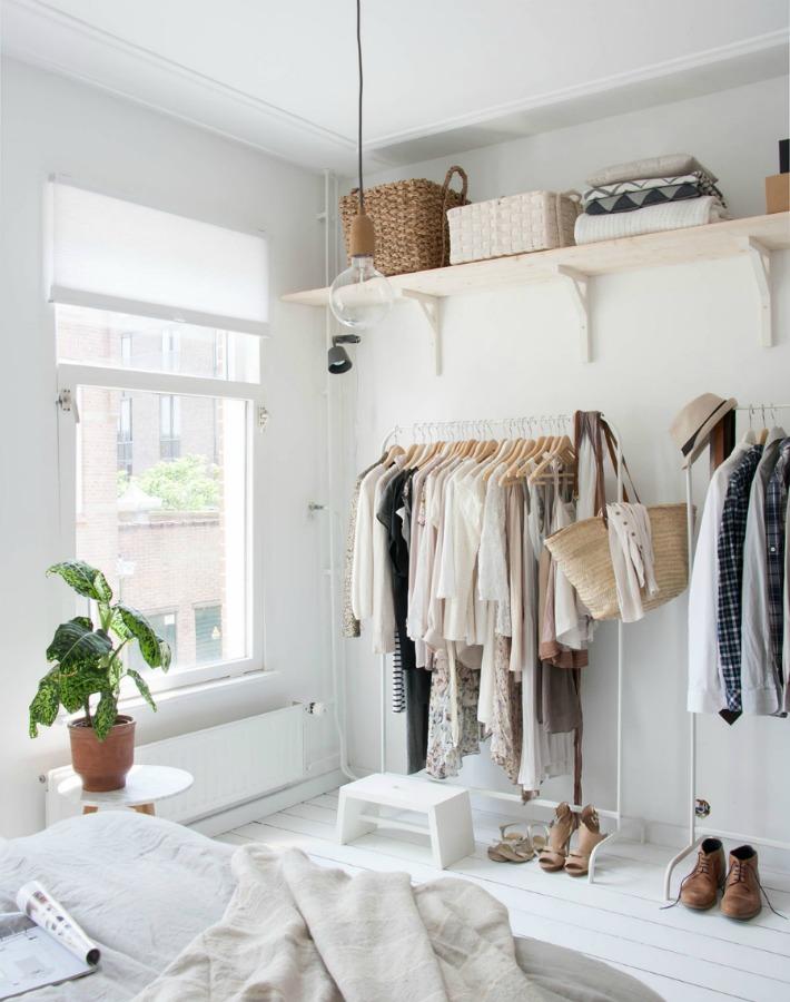 10 ideas para un vestidor abierto lowcost
