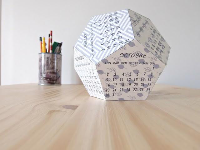 calendrier 3D 2017