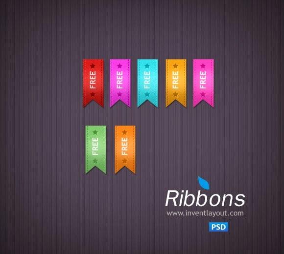Ribbon PSD File