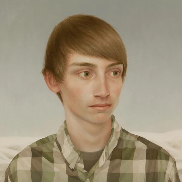 Lu Cong arte inspirador, ojos miradas expresivas, retrato hombre joven,
