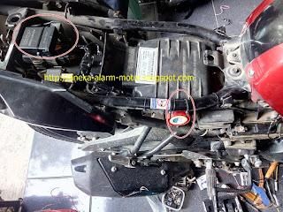 Cara pasang alarm motor remote pada Yamaha Byson Karbu