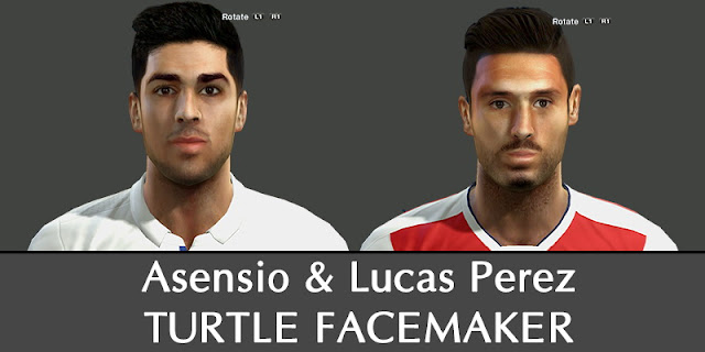PES 2013 Asensio & Lucas Perez Face by Turtle Facemaker
