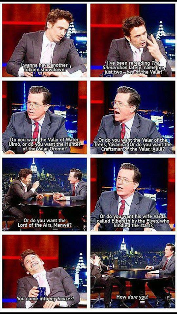 Colbert showing off his impressive Lord of the Rings knowledge