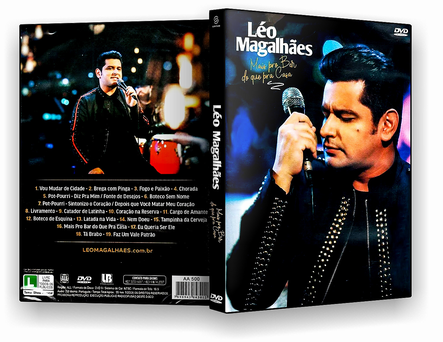 CAPA DVD – Léo Magalhaes Mais Pra Bar Do Que Pra Casa – OFICIAL