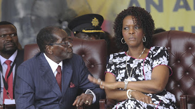 Grace Mugabe with President Robert Mugabe. PHOTO | Courtesy AFP