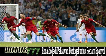 , Ronaldo Jadi Pahlawan Portugal untuk Redam Spanyol