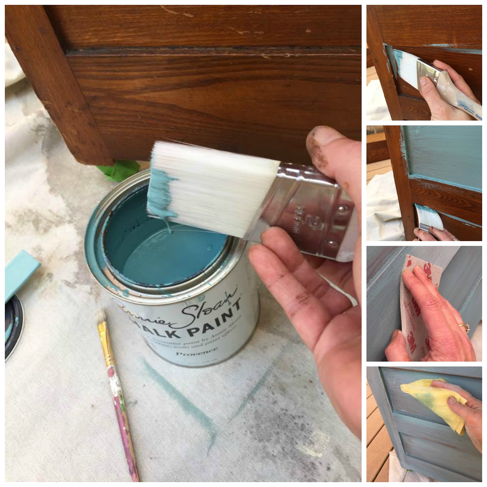 Apply thin coats of paint for a rustic finish