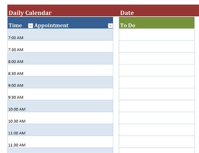 daily planner template, daily planner template printable, free daily planner template