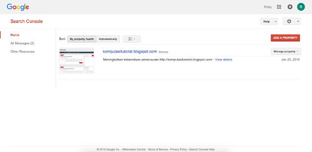 Cara Mendaftarkan Blog Ke Google Web Master Tool