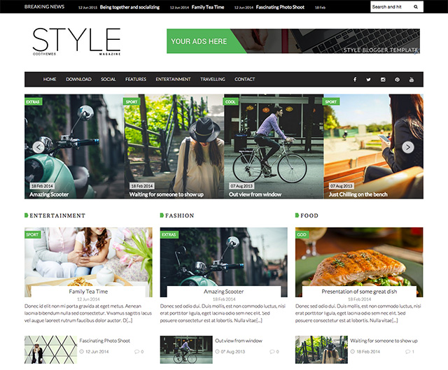 Oddthemes Style Responsive Blogger Template