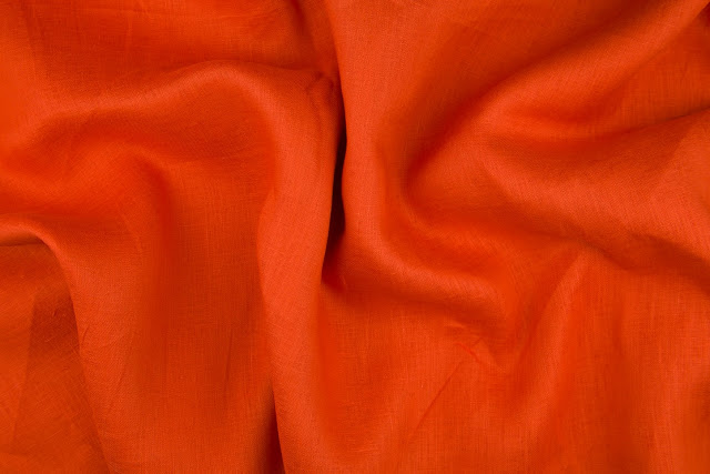 Burnt Orange Handkerchief Linen Fabric