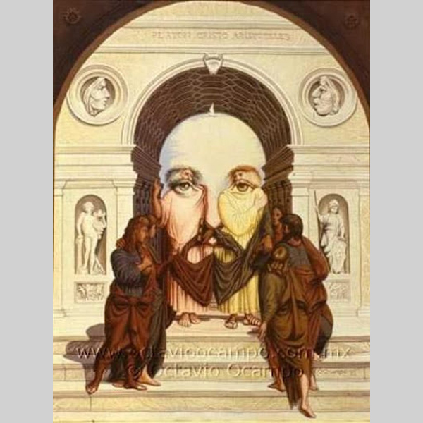 jesus illusion optical illusions christ listening crazy octavio face background amazing troubles eye paintings slodive tricks ocampo lambs lions optique