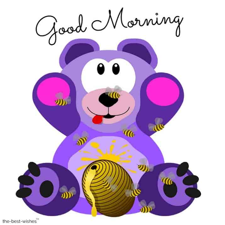 cute good morning teddy bear images