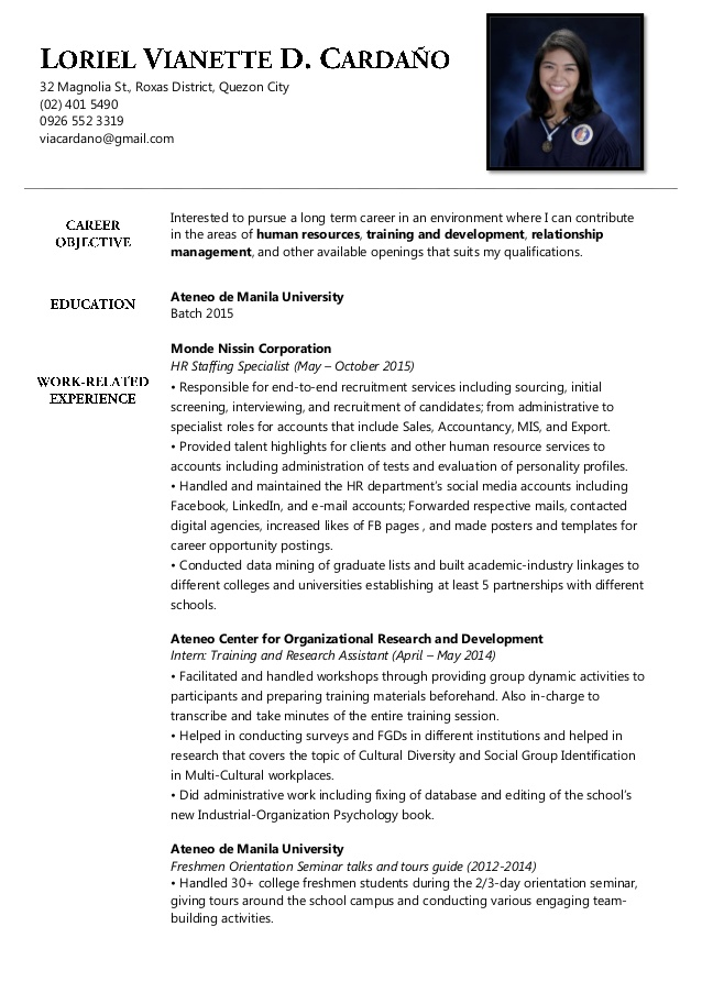 Custom resume writing format