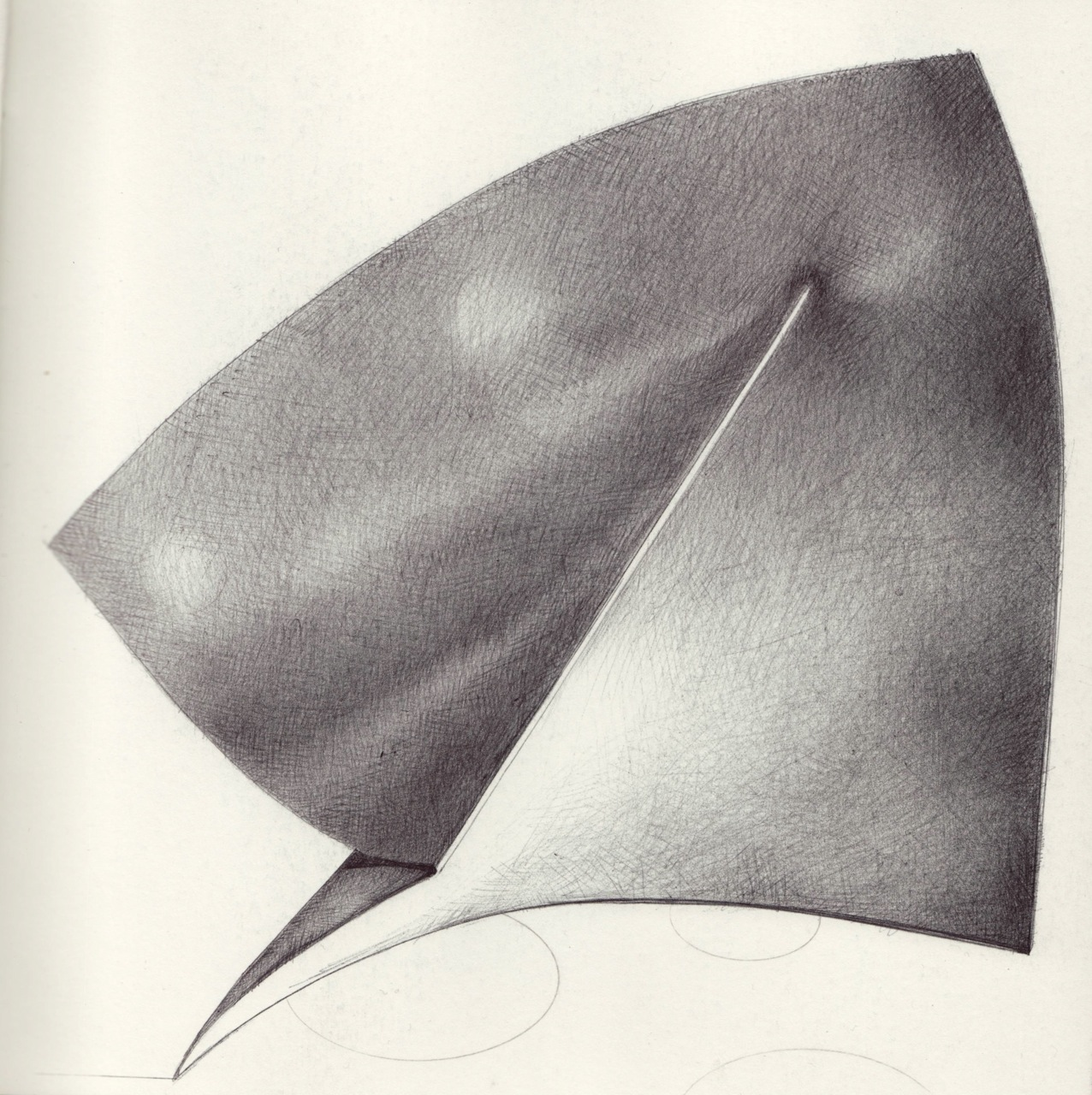 Artists book next phase ballpoint pen drawings exploring folding of paper art of origami
