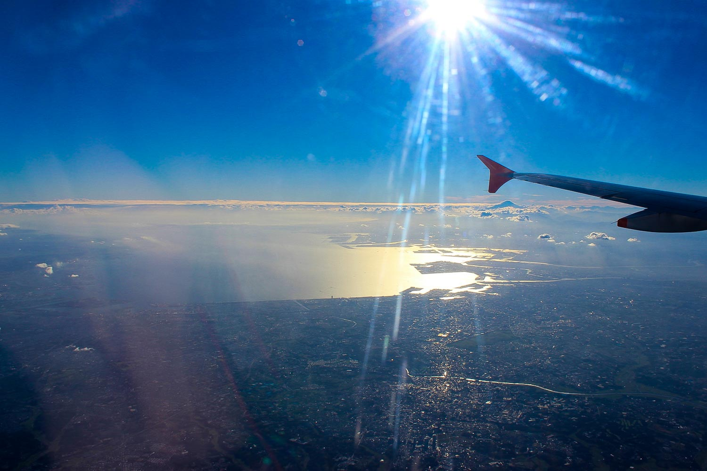 japan tokyo flight with mt fuji