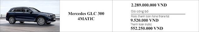 Giá xe Mercedes GLC 300 4MATIC 2019 tại Mercedes Trường Chinh