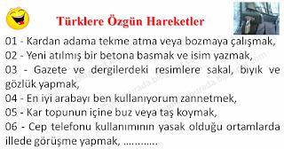 Türklere Özgün Hareketler - Karışık Fıkralar - Komikler Burada