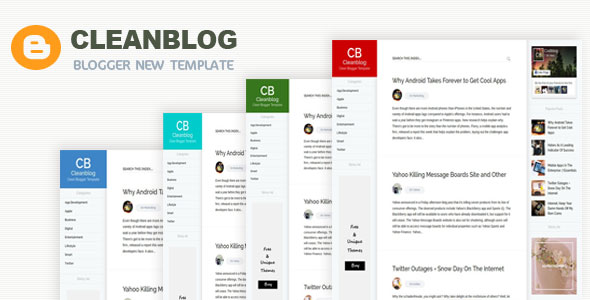 Unlimited color customize bloger template