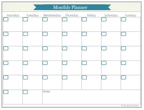 blog planner printables part 2 my may sunshine. Black Bedroom Furniture Sets. Home Design Ideas