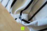 Nähte: Yidarton Damen Crew Neck Base Gestreiftes Kurz Spaltung Casual T-Shirt Top Bluse