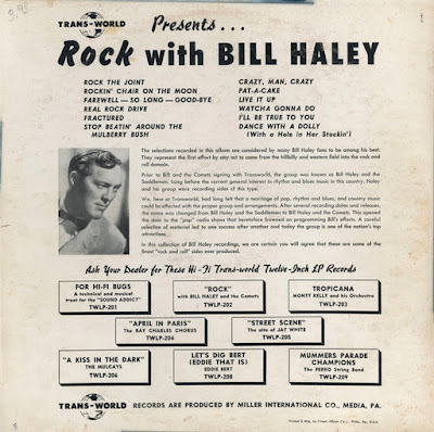 Bill Haley And The Comets - Rock With Bill Haley And The Comets (Trans-World 1956)