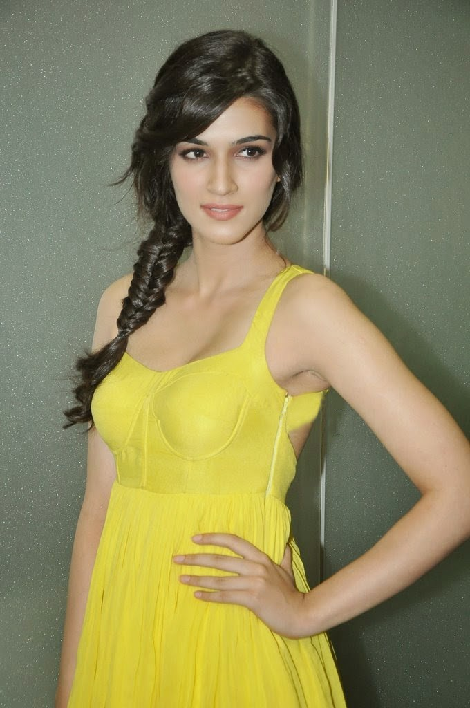 Kriti Sanon Actress Latest Yellow Dress Photos Gallery -4812
