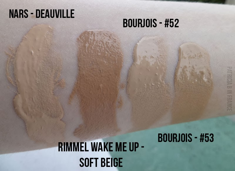 Swatches for Light Beige Foundations