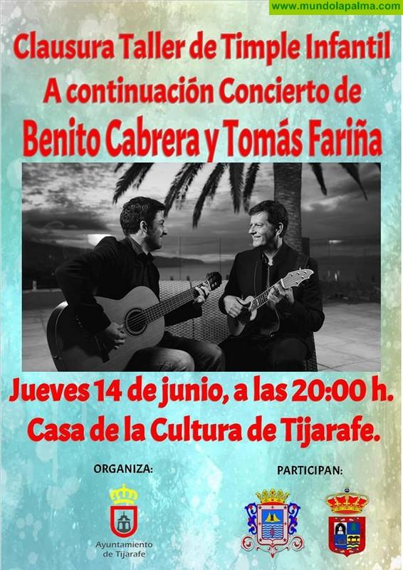Clausura Taller de Timple Infantil a continuación Concierto de Benito Cabrera y Tomás Fariña
