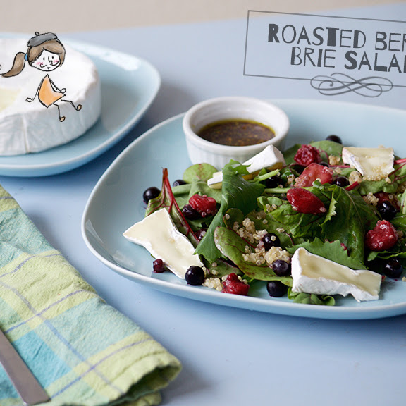 Roasted Berry Brie Salad